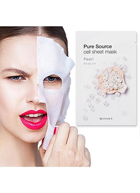 Missha Pure Source Cell Sheet Mask (Pearl) Renksiz